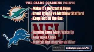 Football Gameplan's 2014 NFL Week 10 Preview - Miami Dolphins vs Detroit Lions