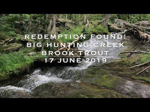 REDEMPTION FOUND!   BIG HUNTING CREEK BROOK TROUT -  17 JUNE  2019