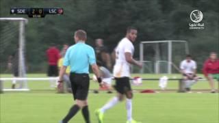 قناة لخويا | العربي يسجل أول أهدافه مع الفريق في ودية ايبار الإسباني