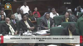 No-Confidence Motion (111th Sitting - Parliament of Guyana)