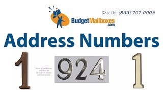 Budget Mailboxes | Address Numbers: Compare And Contrast