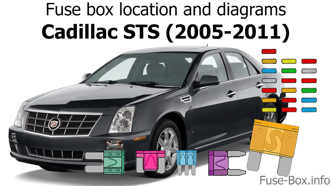 fuse box location and diagrams: cadillac sts (2005-2011) - youtube  youtube
