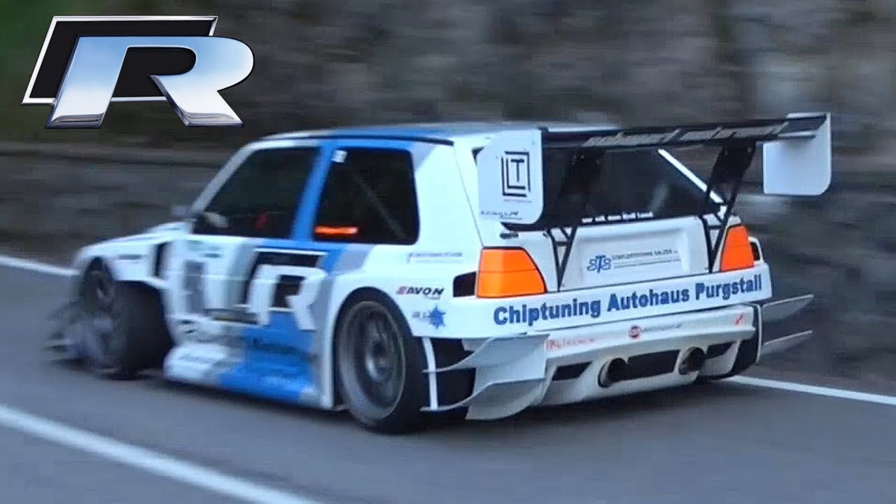 600HP VW Golf MK2 'TFSI-R' 2.0 TFSI Engine Swap Hillclimb Monster! - YouTube