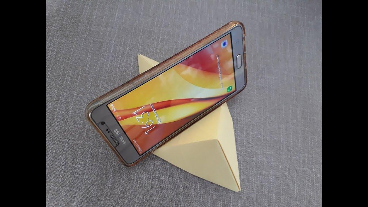 Suporte / Apoio Para Celular de Origami - DIY