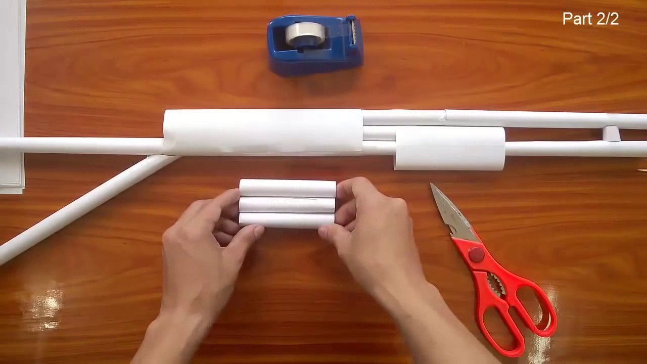 Comment faire un fusil papier chun part 1 origami ep16 youtube - Comment fabriquer un pistolet ...