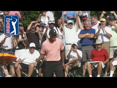 Tiger Woods buries 28-footer for eagle at TOUR Championship 2018
