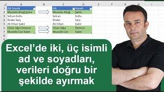 Download lagu Excel de 2 isimli ad ve soyadları nasıl ayırırsınız 585 video Ömer BAĞCI MP3