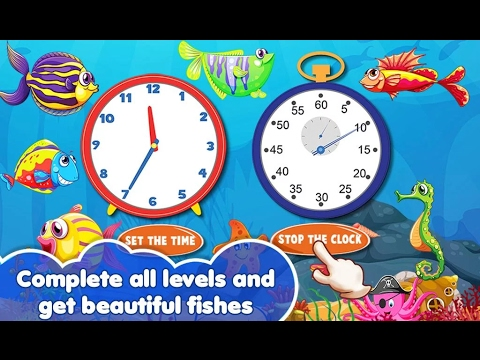 Tick Tock Clock For Kids - Educational - Videos Games For Kids - Girls - Baby Android