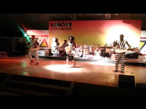 African dancing at African Cultural Center in Korea Part 1