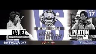Peatón vs Da Jez | Killer Rhymes (Batalla)