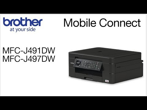 MFCJ497DW – Connect To A Mobile Device