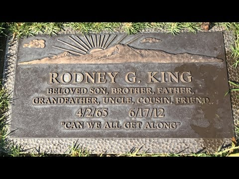 FAMOUS GRAVE TOUR: Remembering Rodney King At Forest Lawn Cemetery In Hollywood Hills, CA - RIP