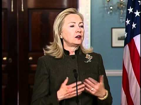Secretary Clinton Delivers Remarks With Turkish Foreign Minister Davutoglu