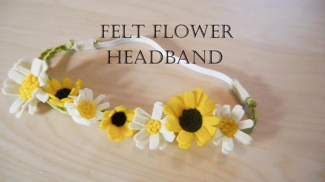 How To Make Felt Flower Headband Youtube