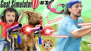 MY GOAT IS AFTER ME!!  FGTeeV Goat Simulator Pay Day w/ Gary the Shark (In Real Life skit) #3