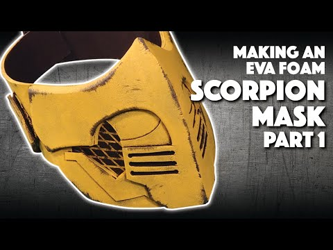 Making An Eva Foam Scorpion Mask Part 1 Youtube