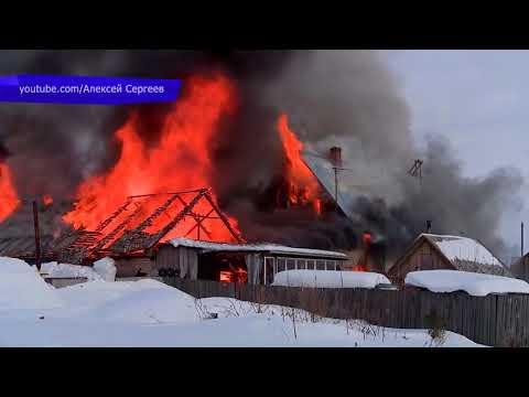 Сводка  Пожар в д  Столбово, съемка с коптера  Место происшествия 22 03 2018