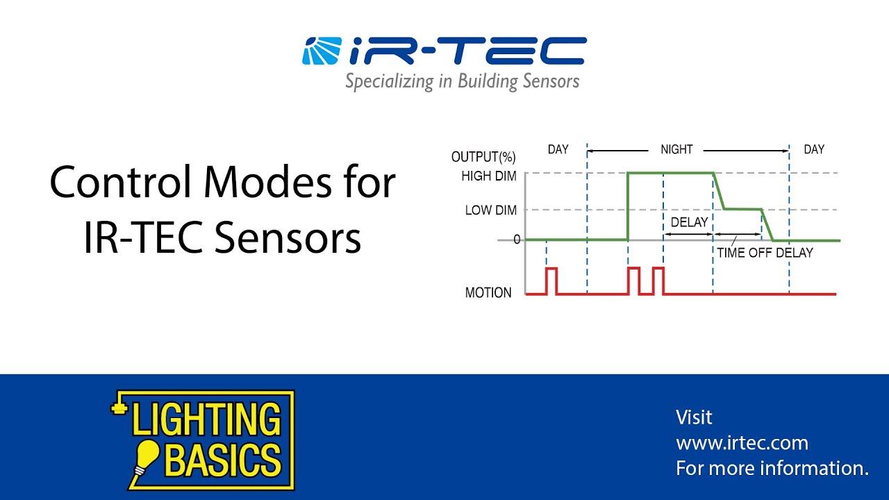 Lighting Basics- Control Modes for IR-TEC Sensors