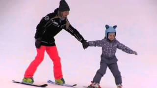 ⛷ 🎿 Горные лыжи. Первые уроки. Обучение ребенка 5 лет.