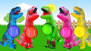 Five Little Dinosaurs 5 little Monkeys Jumping on the bed I Nursery Rhymes for Kids