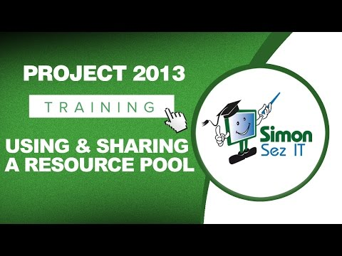 Microsoft Project 2013 Tutorial - Using and Sharing a Resource Pool