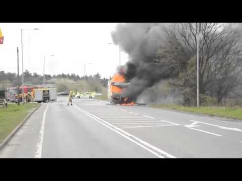 Camper van fire, West Lynn