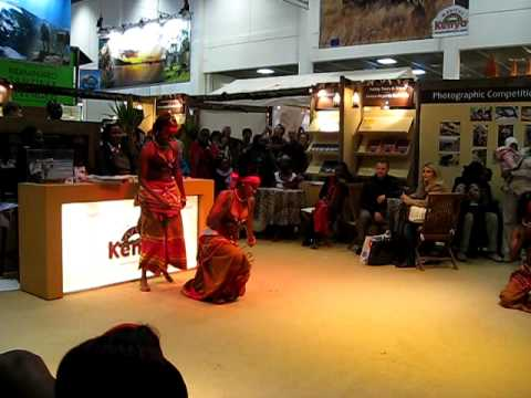 Destination is East Africa as the Kenyan girls dance to the Ugandan tune at the ITB Berlin