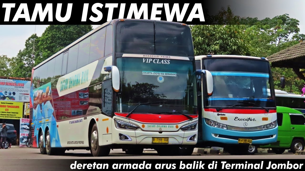 DERETAN BUS ARMADA ARUS BALIK | Terminal Jombor 2 Agustus