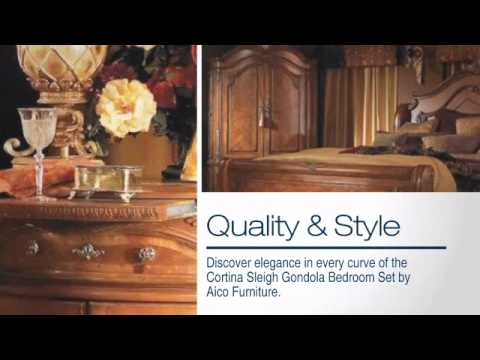 Cortina Sleigh Bedroom Set from Aico Furniture