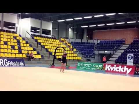 Jysk/Fynsk mesterskaberne i RSG 2015, Junior og Senior, Julie Carlsen, HIF, Vimpel