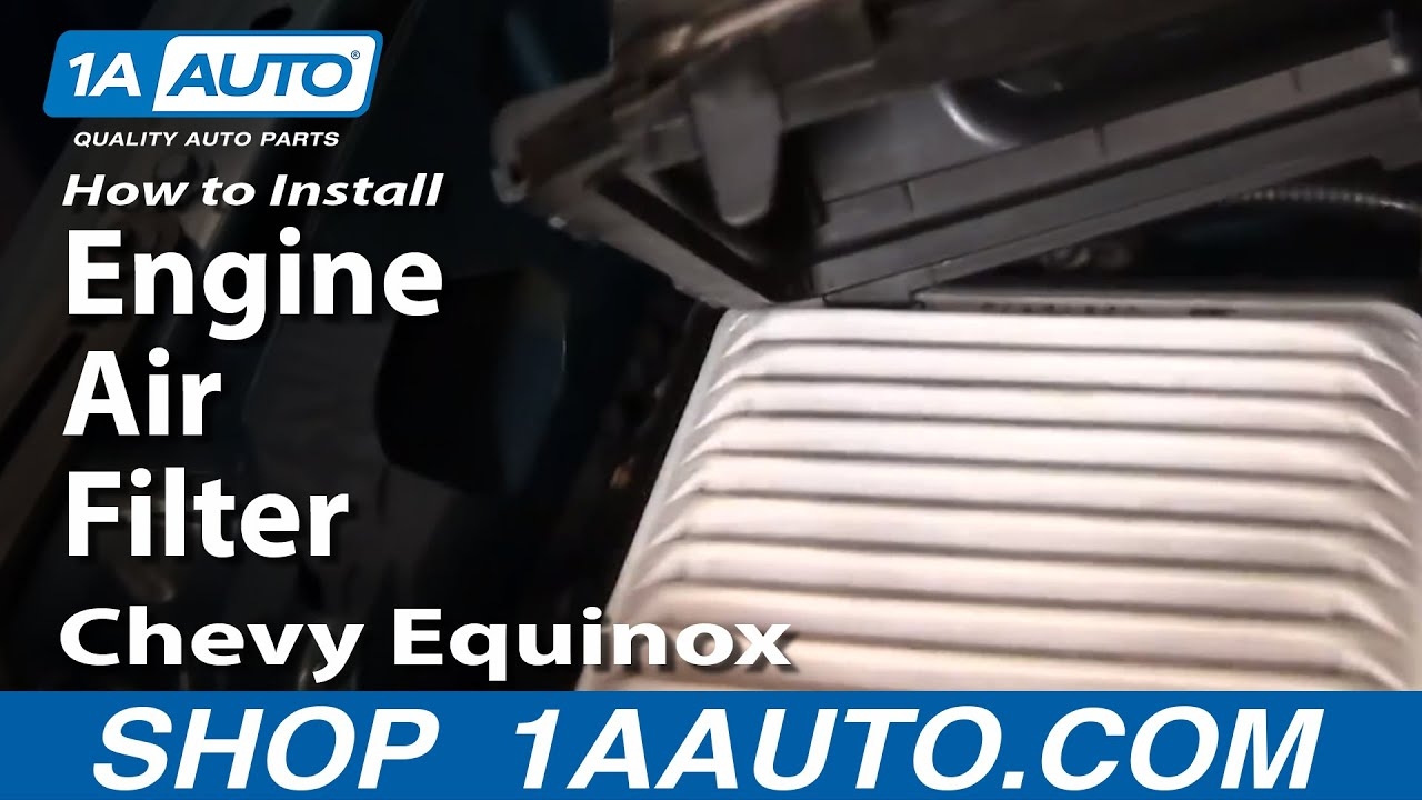 How To Install Replace Engine Air Filter Chevy Equinox 3.4L 05-09 ...