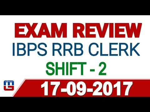 Exam Review With Cut Off | IBPS RRB CLERK 2017 | 17 September- 2nd  Shift