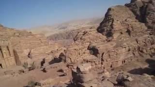 Petra Ad-Deir in Jordan ペトラ遺跡エド・ディルの風景
