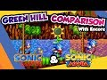 Sonic Mania And Sonic The Hedgehog Green Hill Zone With Encore Mode Comparison mp3