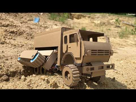 Transformer - KAMAZ master with additional caterpillar traction