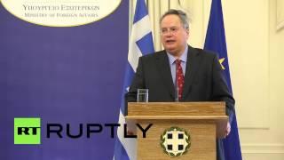 Greece: FM Kotzias praises Iran
