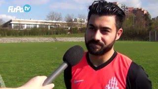 Gambar cover Fatih Gönültas - FC Fatihspor Pfhm. - zum Spiel vs. FV 09 Niefern, im FuPa.tv-Interview am 10.4.2016