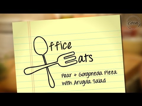 Office Eats | Ep. 1 Pear And Gorgonzola Pizza With Argula Salad | COIN