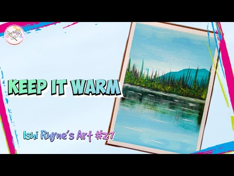 Simple and Easy Mountain Forest Acrylic Painting Tutorial | Landscape Painting for Beginners