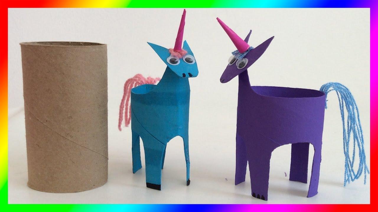 Figuras de papel unicornio manualidades con rollos de - Manualidades de papel ...