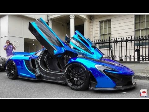 london supercars - first chrome blue mclaren p1 / pov inside - youtube