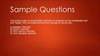 ISTQB Foundation Exam Sample Questions Session 2