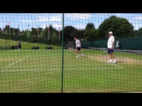 Wimbledon 2013: Andy Murray practicing with Ivan Lendl by his side