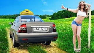 ПОДВЕЗ КРАСИВУЮ ДЕВУШКУ - БУДНИ ТАКСИСТА в CITY CAR DRIVING + РУЛЬ