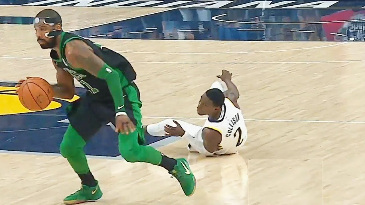 9de1d882fc8 Kyrie Irving Breaks Ankles!!! Kyrie Irving Drops Darren Collison! Celtics  vs Pacers