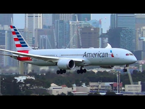 Which Airline Lands The Boeing 787 Dreamliner The BEST?   Sydney Airport Plane Spotting