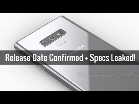 Samsung Galaxy Note 9 Official Release Date Confirmed & Specs Leaked!