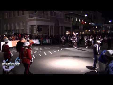 Bermuda Regiment + Pipe Band - Front Street Mile Jan 14th 2011