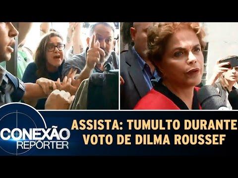 Assista: Tumulto e confusão durante voto de Dilma Rousseff