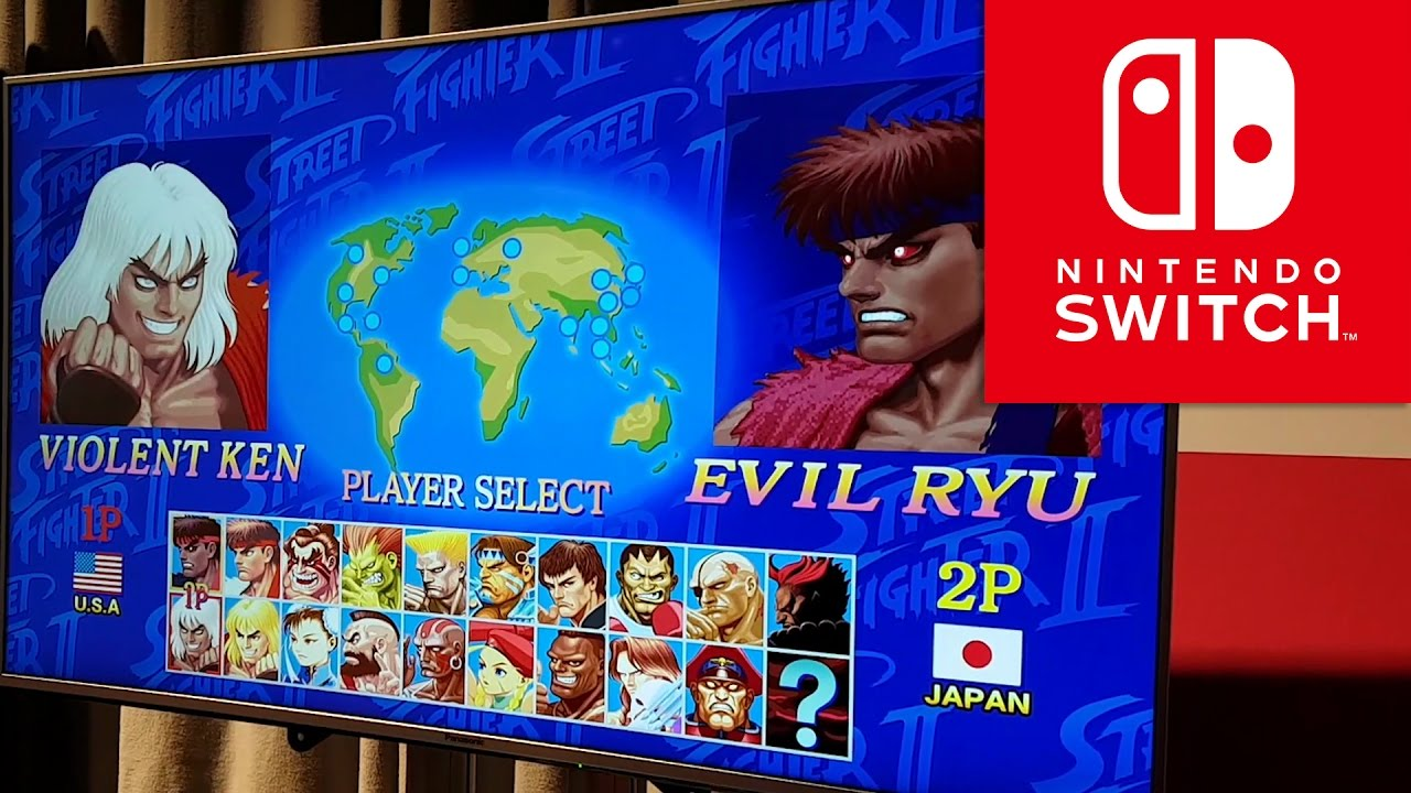 Switch ULTRA Street Fighter 2 TFC Violent KEN VS Evil RYU 60 FPS gameplay